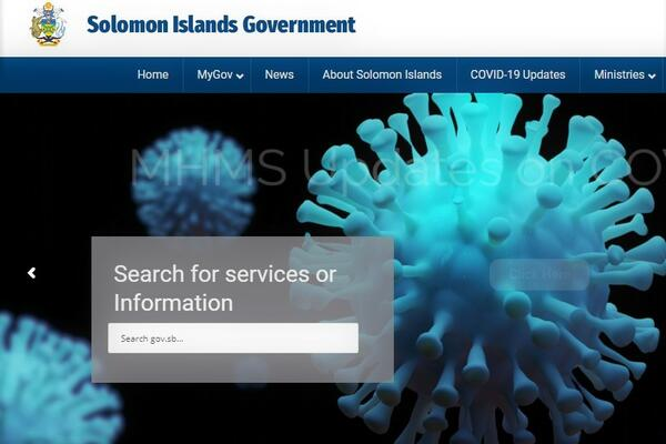 The site will be hosted within the Solomon Islands government portal.