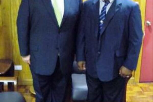 Senator David Feeney and Deputy Prime Minister Hon Manasseh Maelanga MP.