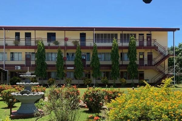 A school stands empty in Fiji.