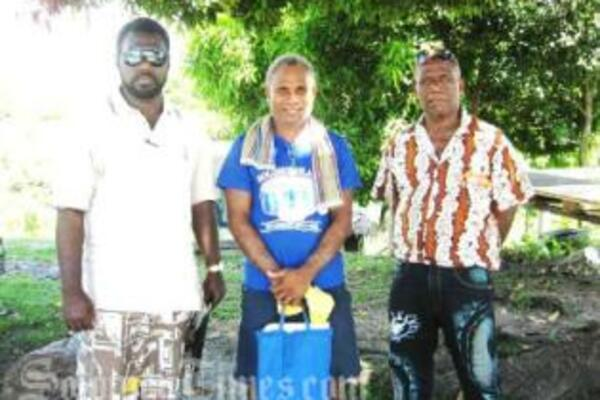 Committee Chairman Smith Ragi, Secretary Beven A'iele and Honiara Committee member Reginald Ngati.