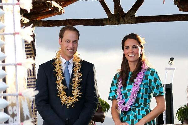 The Duke and Duchess of Cambridge during their visit to the Solomon Islands last year.