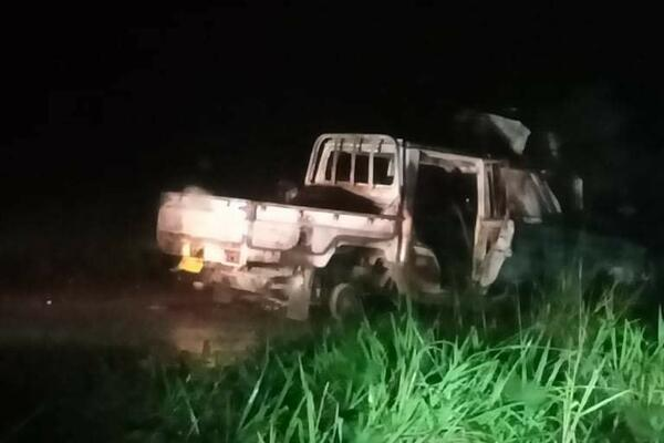 The land cruiser was chased by police vehicle for careless driving from Burns Creek area before heading up to Tenaru bridge.