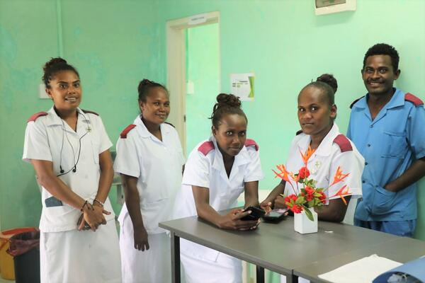 Nurses stationed at the Taro hospital in Choiseul province.