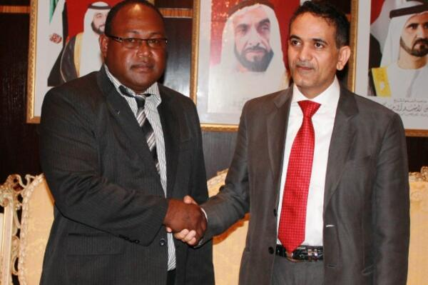 DPM Maelanga and UAE Assistant Foreign Minister Dr. Saeed Alshamsi in New York.