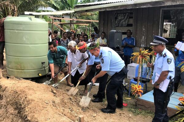 """The people of Wagina in Choiseul Province have been longing to see the ground-breaking for the Wagina Police Station as it is the first of its kind in their community,"" Police Commissioner Mangau says."