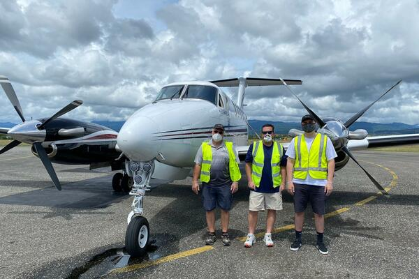 The PMSP-FFA aircraft during a recent stopover in Honiara.