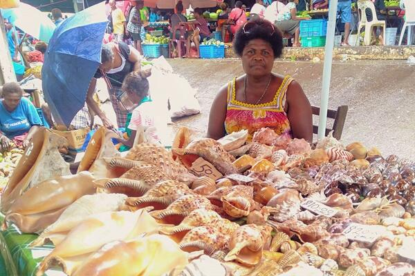 While vendors might not think much of selling items such as sea shells, for Susan she says it is a lucrative business.