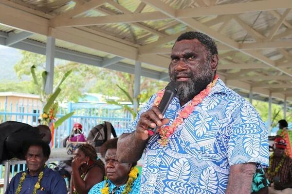President of the Autonomous Region of Bougainville, Hon. Ishmael Toroama.