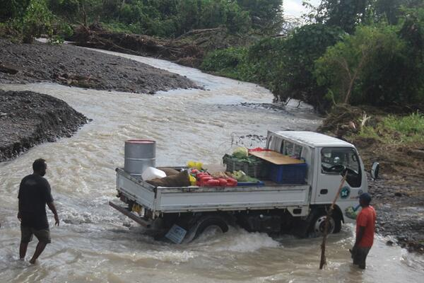 Roads and bridges connecting villages to Honiara has been badly affected, in certain cases villages have been cut off having to use boat instead.
