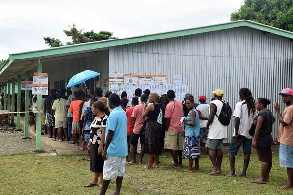 The turnout for the Solomon Islands National General Election was strong with some areas reporting 100 percent participation.