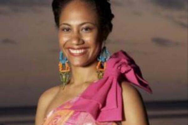 The newly-crowned Miss South Pacific 2009/2010, Miss Fiji, Merewalesi Nailatikau.