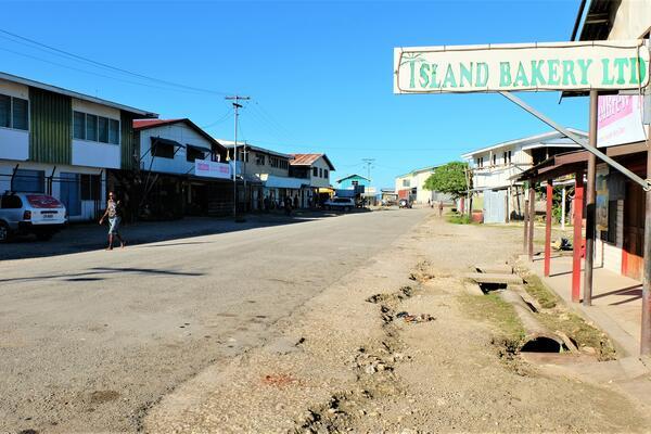 Auki town in Malaita province.