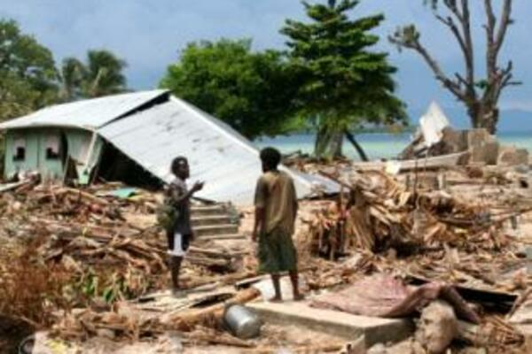 The aftermath of the 2007 tsunami disaster, that hit the Western Province.
