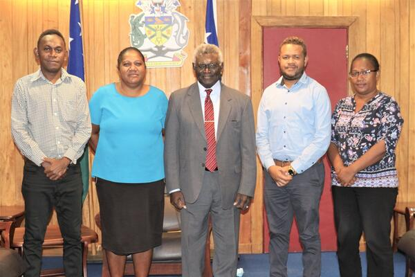 Prime Minister Sogavare and members of the MASI executive.
