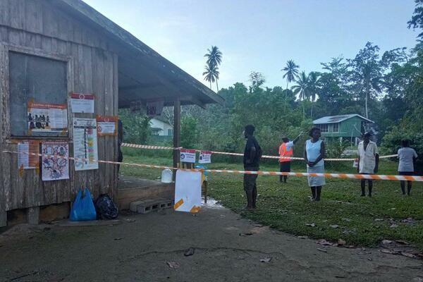 In South Choiseul, people have been flocking to the Polling Stations since 7am.