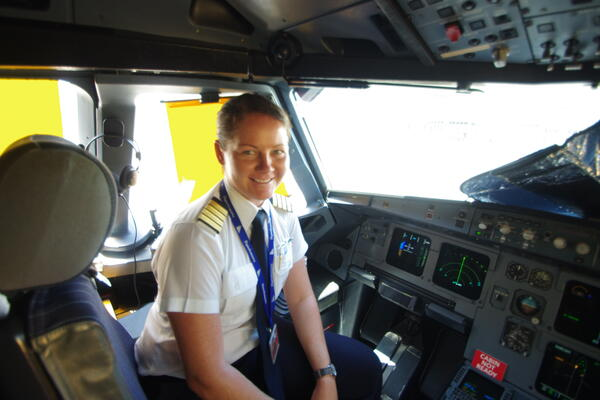 Captain Claudia Walding - the first female pilot to take command of Solomon Airlines' flagship airbus A320.