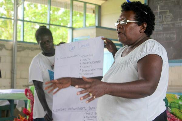 One of the participants at the recent workshop organized by the Western Province Council of Women.