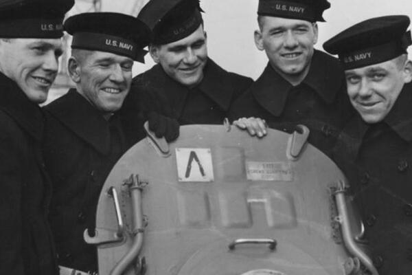 Sarah Gibbens at National Geographic reports that the Sullivan brothers, George, Frank, Joe, Matt, and Al, natives of Waterloo, Iowa, enlisted in the Navy together soon after Pearl Harbor.