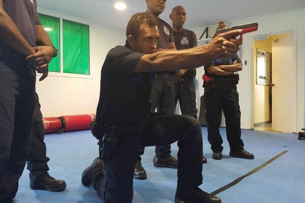 The small number of officers who will have access to guns have been training with replicas so they become familiar with weapons handling procedures.