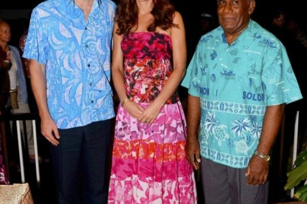The Duke and Duchess of Cambridge, Prince William and Kate Middleton, during their recent visit to Solomon Islands.