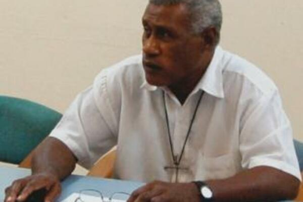 Father Sam Ata, chairman of the Solomon Islands Truth and Reconciliation Commission.