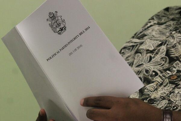 The Bill was approved by Cabinet more than three weeks ago and was submitted to the Clerk to Parliament shortly after its approval.