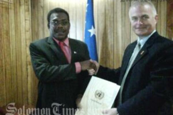 Mr. Ostby will represent the UN and UNDP in 10 countries, including Solomon Islands.