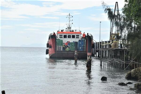 The landing craft currently at Aola base awaiting further investigations.
