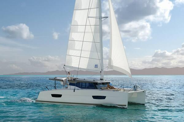 The yacht is similar in size and color to the one pictured.