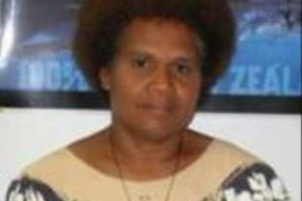 "Solomon Islander, Dr Alice Aruhe'eta Pollard, one of the co-editors of the soon to be launched ""Being the First."""