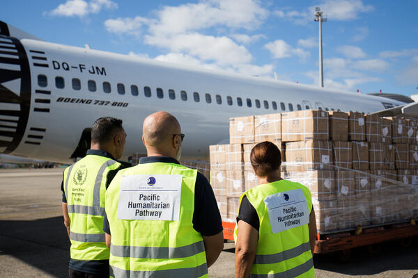 """The humanitarian air service flights are a welcome demonstration that the Pacific Humanitarian Pathway on COVID-19 is doing what leaders intended - protecting citizens and supporting health systems,"" said Dame Meg Taylor, Pacific Islands Forum Secretary General."