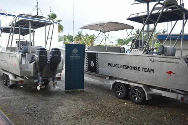 Dr Strahan said the two new boats had been delivered in addition to two aluminum fast boats gifted to the RSIPF in 2020, which boosted operations at the western border, including in relation to COVID-19 preparedness.