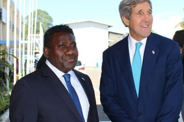 Secretary of State, John Kerry he was deeply saddened by the loss of lives during the tropical cyclone three months ago.