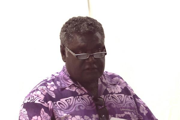 The Premier of Western Province Hon. David Gina.