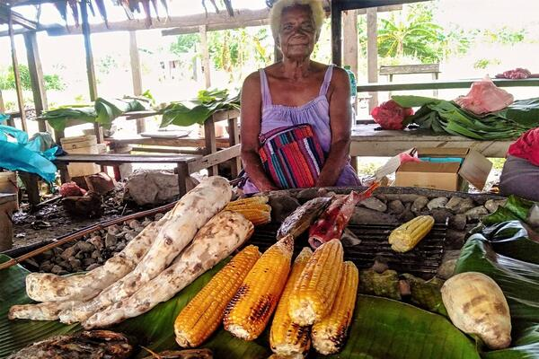 Local Food Vendor Encourages People to Eat Local Food