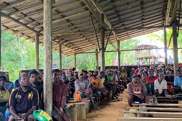 Church meeting in New Britain, Papua New Guinea.