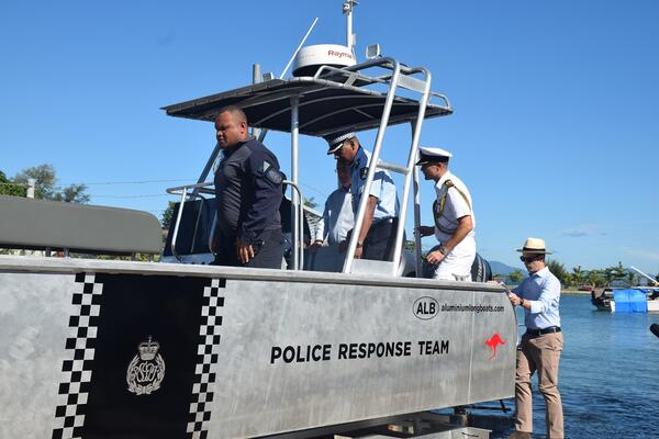 The first lot of fast craft boats was donated by Australia in late April 2020.