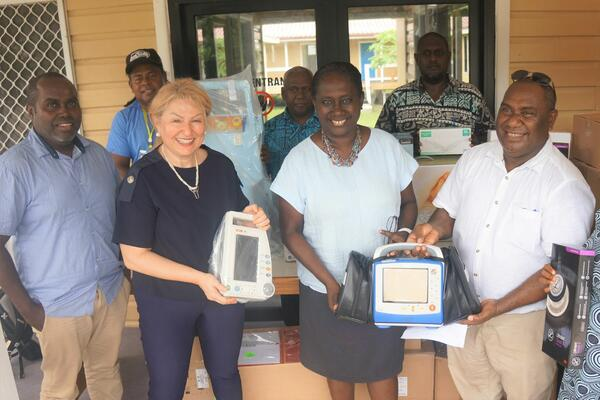 WHO met with MHMS and NRH officials on Thursday to hand over supplies and equipment for the isolation centres.
