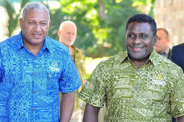 "In thanking his Solomon's counterpart for what he described as ""a wonderful experience"" for the Fijian delegation visiting the country, the Voreqe Bainimarama said it had reinforced his optimism about the future of the Melanesian Spearhead Group."