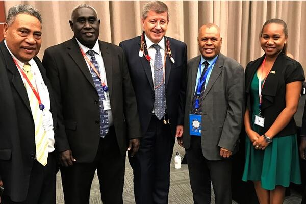 Solomon Islands' delegation to the Pacific tripartite forum in PNG last week.