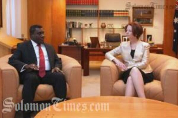 PM Lilo during his bilateral talks with Australia's Prime Minister Julia Gillard.