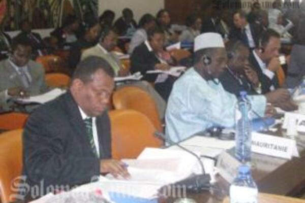 Hon. Steve Abana addressing the ACP Council.