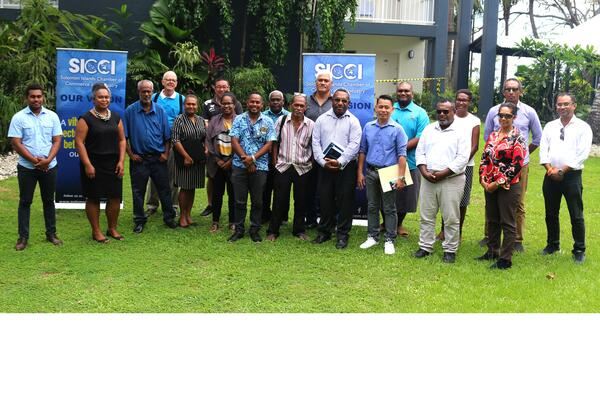 Heads of companies in the manufacturing sector, Government representatives and SICCI representatives who attended the roundtable meeting on Thursday 3 September at the Heritage Park Hotel in Honiara.