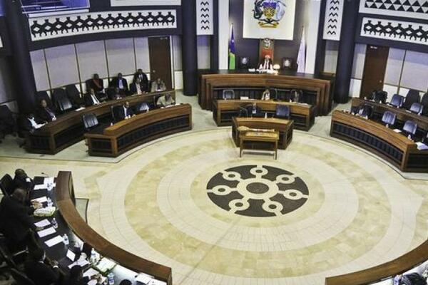 Inside the Solomon Islands parliamentary chambers.