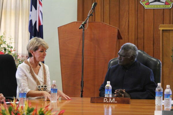 Prime Minister Sogavare has described bilateral discussions with the Australian Foreign Minister, Hon Julie Bishop and her delegation in Honiara yesterday as 'very fruitful.'