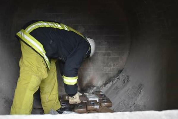 Police Destroys 745 Kilograms of Cocaine