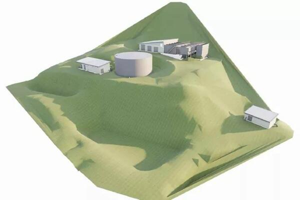 Artists impression of the new Kongulai water treatment plant.