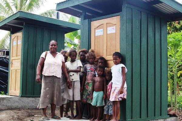 Last week, some 75 children and their teacher's received two toilets, with an additional four for their community.