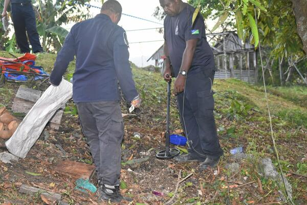 The RSIPF Forensic and Explosive Ordnance Disposal (EOD) team have since identified the bomb that caused the blast yesterday.