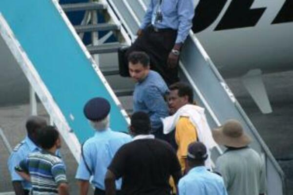 Moti was arrested in December 2007 at Brisbane International Airport after being deported from Honiara following his sacking as attorney-general of the Solomon Islands.